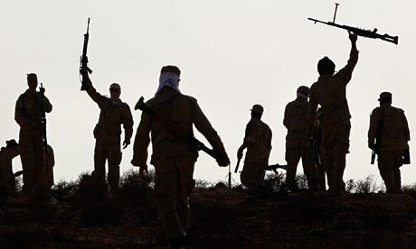 Libyan rebel fighters