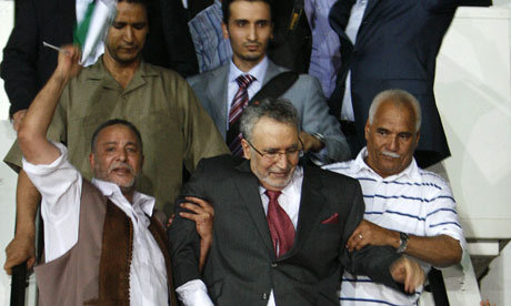 Megrahi is greeted on his return to Libya in August 2009.