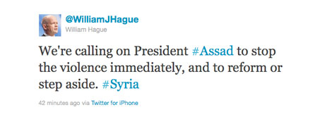 hague tweet