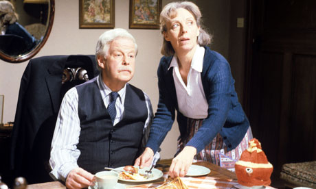 Richard Pearson, left, with Anna Massey in ITV's The Bank Manager's Wife
