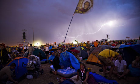 Lightning over the World Youth Day crowd