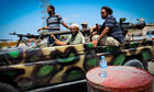 Libyan rebels on the way to Maya