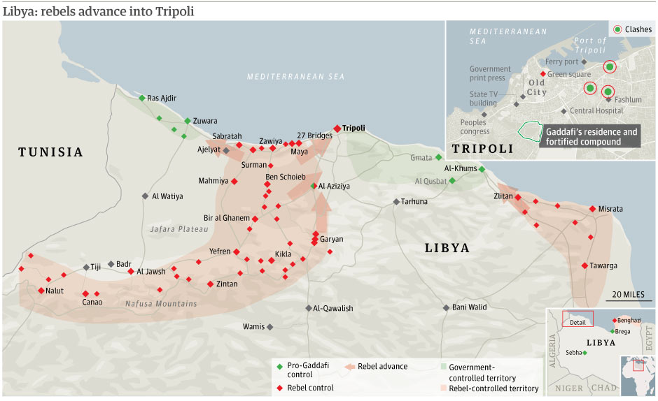 Libya crisis maps perry castaeda map collection ut library online august 22 rebels advance into tripoli guardian publicscrutiny Image collections