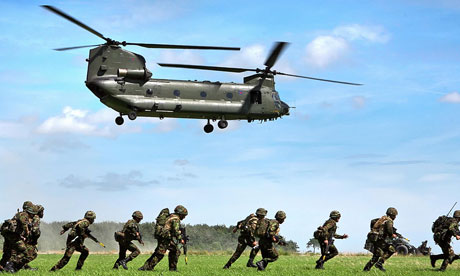 A CH-47 Chinook helicopter