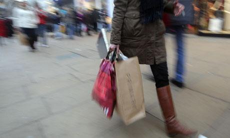 A shopper on the high street
