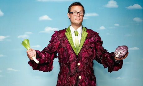 Hugh Fearnley-Whittingstall with veg