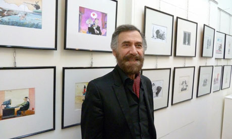 Syrian artist Ali Farzat at an exhibition of his cartoons in 2010.