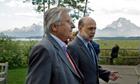 Jean-Claude Trichet and Ben Bernanke at Jackson Lake