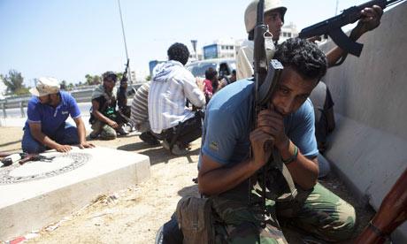 Libyan rebels in Tripoli