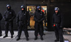 Police after riots, Hackney, London 2011
