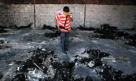 burned bodies Libya