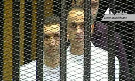 Sons of Hosni Mubarak, Alaa Mubarak (left) and Gamal Mubarak