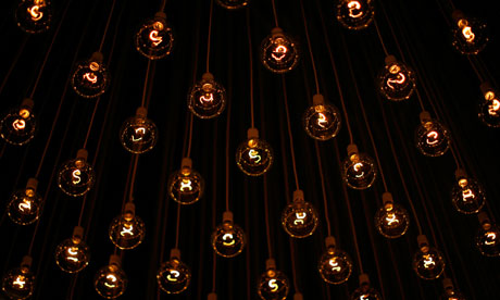 Captivating Rows Of Lightbulbs