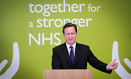 David Cameron making speech on NHS reforms