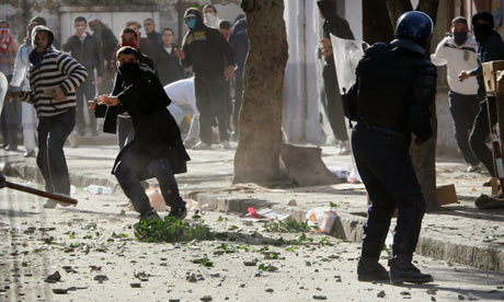 Algerian protesters