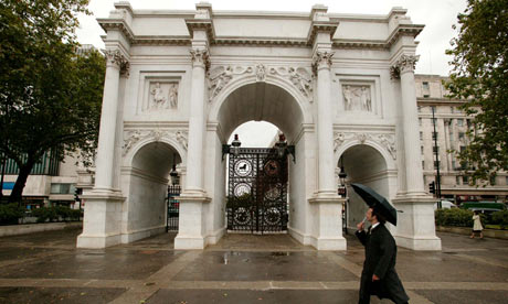 The newly restored Marble Arch