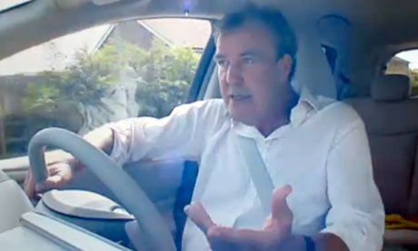 Jeremy Clarkson test drives the Tesla electric car