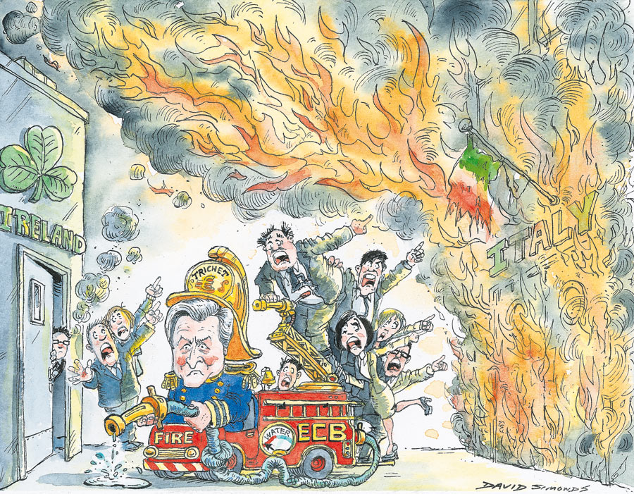 David Simonds cartoon: Europe burning