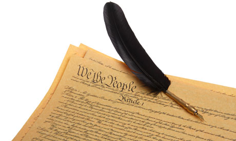 US Constitution and Feather Pen