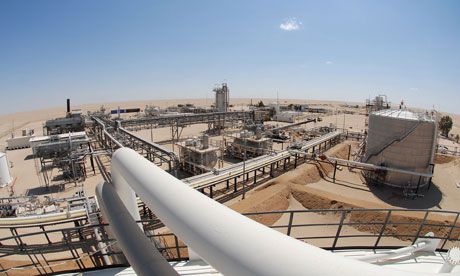Oil facility in Libya