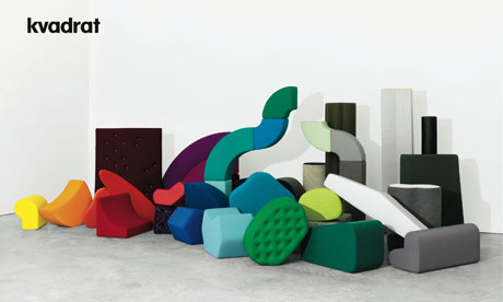 An advert for Danish textiles firm Kvadrat