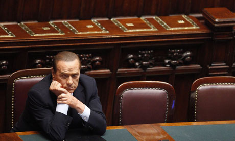 Italian Prime Minister Silvio Berlusconi at the Chamber of Deputies