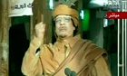 Gaddafi's audio broadcast on television