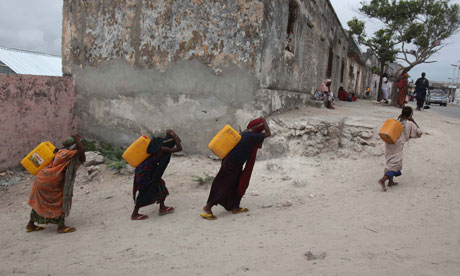 Internally displaced women in in Somalia.