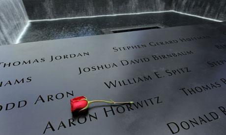 The 9/11 memorial at Ground Zero in New York