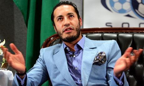Saadi Gaddafi, son of Colonel Gaddafi