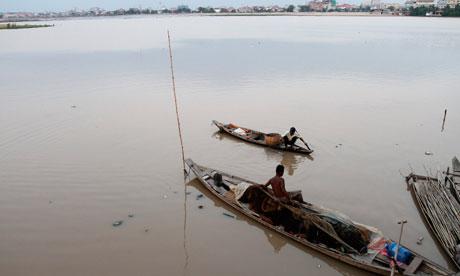 Boeung Kak lake in Phnom Penh