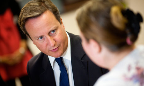 David Cameron Visits Action For Employment