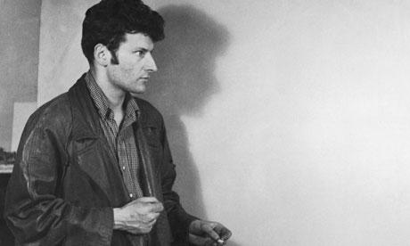 Lucian Freud in a studio