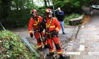 Firefighters at Gleision mine, Wales