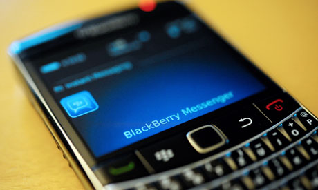 A BlackBerry mobile phone