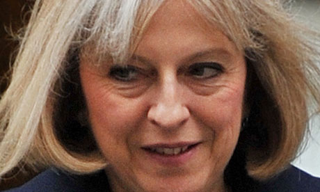 Theresa May thanked Baroness Browning for 'taking forward work to help prevent crime'
