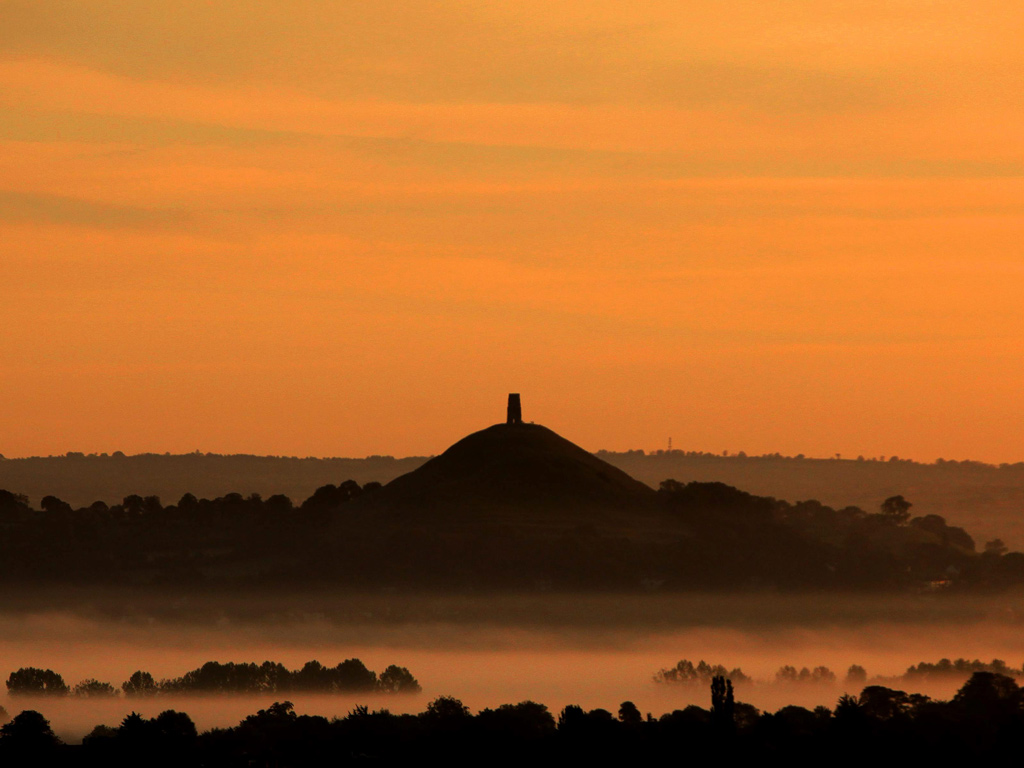 Stunning autumn scenes at the Somerset Levels