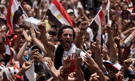 Protest in Cairo, July 2011