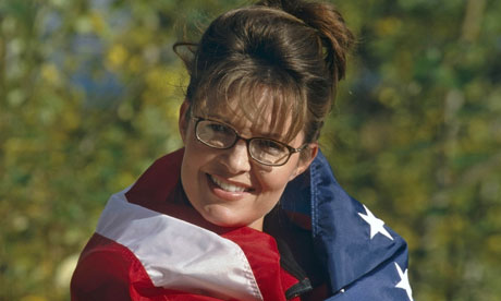 Sarah Palin with US flag