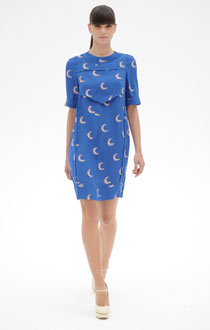 A blue Victoria Beckham dress
