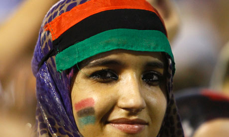 A Libyan revolutionary woman