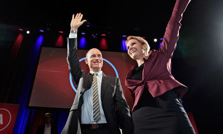 Helle Thorning-Schmidt and her husband, Stephen Kinnock