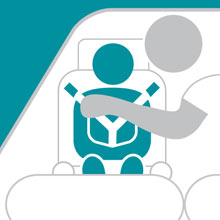 Child car seat safety campaign badge
