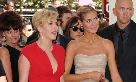 Kate Winslett and Heidi Klum at the 2011 Emmy awards in Los Angeles