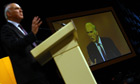 Vince Cable speaks during the Liberal Democrat conference in Birmingham