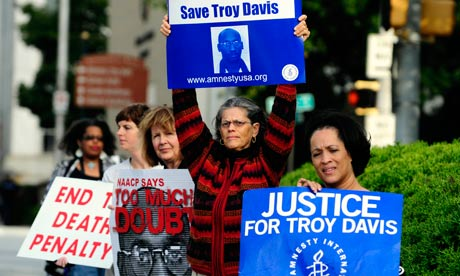 Troy Davis execution: almost 1m signatures have been collected on a petition asking for clemency for Davis. Photograph: David Tulis/AP