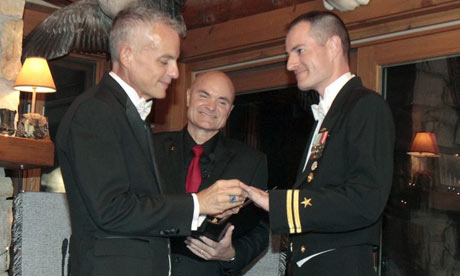 Lt Gary Ross (right) and Dan Swezy exchange wedding vows