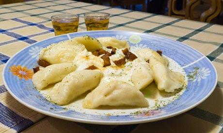 Dumplings, eastern Europe, Slovakia
