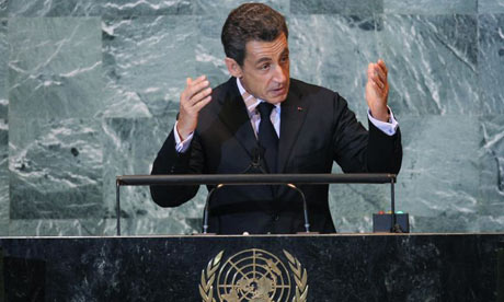 Nicolas Sarkozy at the UN general assembly