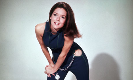 Sex kitten with claws: Diana Rigg as Mrs Peel in the Avengers.